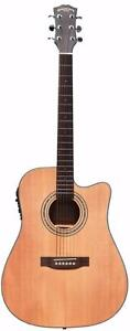 Best Gift ! Acoustic Guitar Solid Top Cedar with Gig bag, String set, 5 picks iMusic235 Sounds Nice !