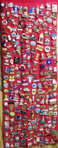 Lot of 230+ Lion Club Pins, 70