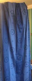 Blue curtains x 2 Pairs good for rented homes