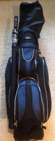 "Set of ""Hippo"" golf clubs , plus bag & trolley"