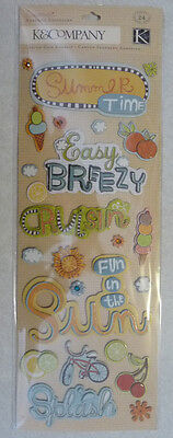 Company Chipboard - 9155 K&COMPANY Chipboard Stickers SUMMER TIME - 13