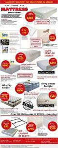 MILTON MATTRESS OUTLET - HUNDREDS OF MATTRESSES MUST GO!!