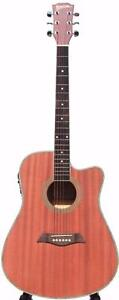 ACOUSTIC ELECTRIC GUITAR FOR BEGINNERS 41 INCH NATURAL IMUSIC231