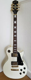 Epiphone Les Paul Custom - Alpine White - Great Sounding Guitar ideal for Rock, Blues, Punk & Metal