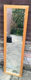 Full length mirror (120cm by 35cm)