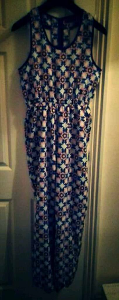 Gorgeous brand new geometric Boohoo jumpsuit size 12 cost £25