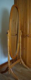 Pine Full Length Bedroom Mirror