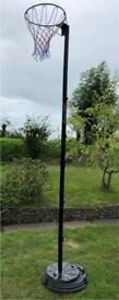 Netball post stand in good condition not used much potable sports net ball