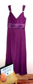 Purple bridesmaids dresses x3