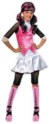 Mädchen Kind Draculaura Monster High Kostüm Offiziell Lizenziert