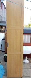 IKEA PAX wardrobe, BARMEN oak door, 2 metal hanging rails + 2 adjustable shelves. Excellent conditio