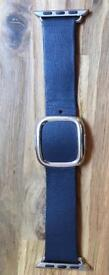 Apple Watch Strap 38mm Modern Buckle, Midnight Blue. Medium
