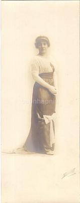 Edwardian Fashion Downton Style Bow Dress Woman 1900s Portrait Photo MILWAUKEE