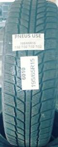 PNEU HIVER USAGÉ / USED WINTER TIRE 195/65R15 WINTER JINYU