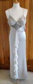 NEW MORGAN & CO Designer Dress Diamante Pink Platinum Art Deco Style Wedding Bride Bridesmaid PROM