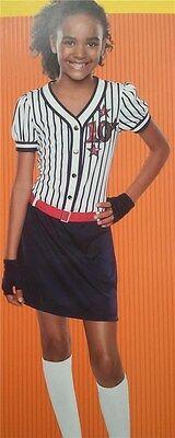 Baseball Girl Costumes (Baseball Team Halloween Costume Li'l Superstar Girls Dress Gloves Size 4 to 6)