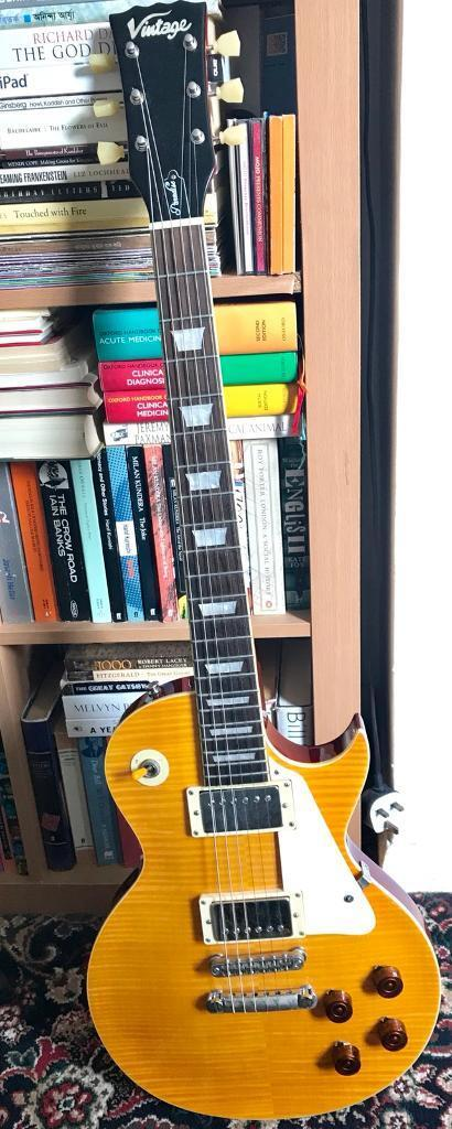 Vintage brand AFD Les Paul with many upgrade