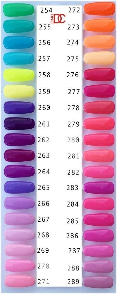 DND DC Soak Off Gel Polish full size .6oz LED/UV gel duo.! 1