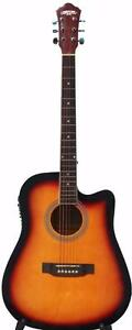 Acoustic Electric Guitar Sunburst for beginners iMusic218 installed EQ 41 inch Full size Free 5 picks