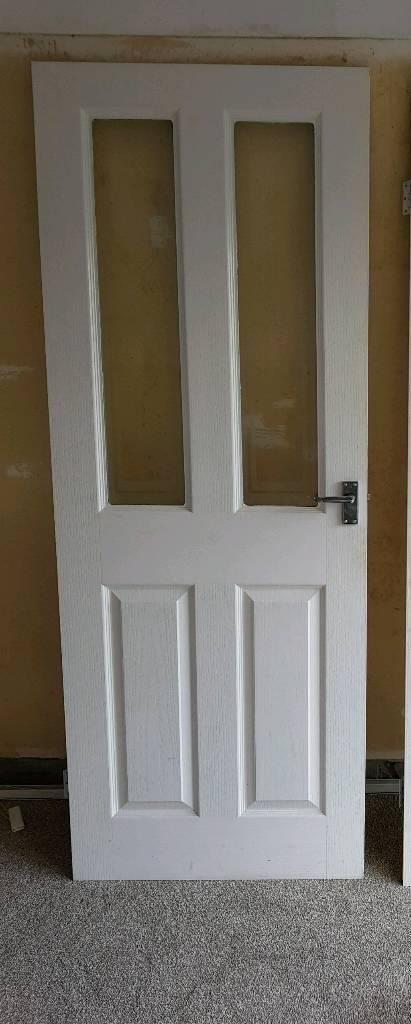 Interior, glazed moulded door