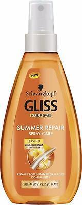 ** SCHWARZKOPF GLISS SUMMER REPAIR SPRAY CARE NEW ** 150ml LEAVE IN