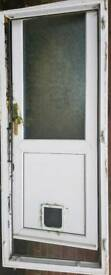 uPVC door and Frame with Cat flap