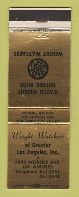 Matchbook Cover - Weight Watchers Weight Loss Los Angeles CA Cover Weight Paper