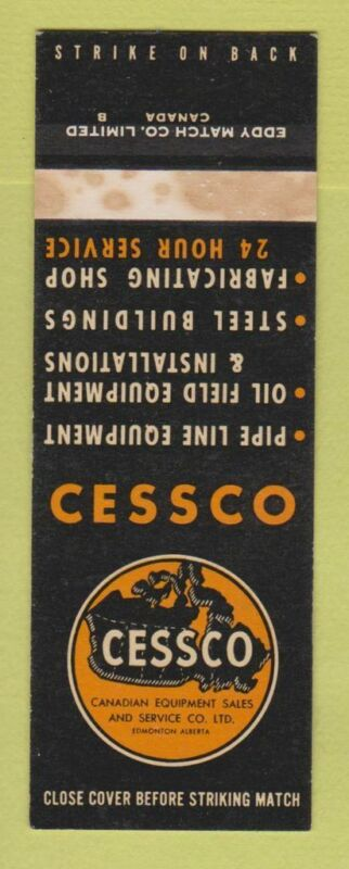 Matchbook Cover - Cessco Canadian Equipment Sales Edmonton AB SAMPLE WEAR