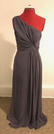 Storm Purple Evening Dress (Size 8 - 10)