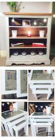 Nest of tables and matching bookcase