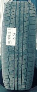 PNEUS HIVER USAGÉS / USED WINTER TIRES 215/60R16 21560R16 DUNLOP STUDLESS DS-2