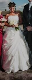 Justin Alexander wedding dress.