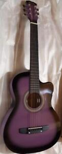 Christmas Gift ! 3/4 size 36 inch Purple acoustic guitar  for kids iMusic812