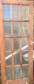 Glass panel interior door