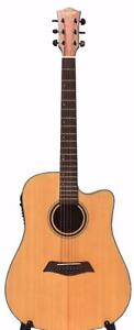 Solid Top Spruce Acoustic Guitar with free capo and strap 41 inch iMusic234