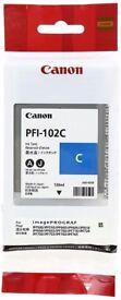Canon PFI102 Ink Tank 130ml - Cyan
