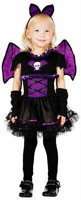 kostüm Vampir Kostüm Kinder Mädchen Halloween Fasching lila (Vampir-mädchen Kostüme Kinder)