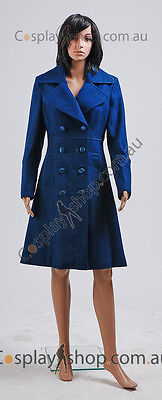 Dr. Amy Teal Wool Coat Costume  (Teal Damen Kostüme)