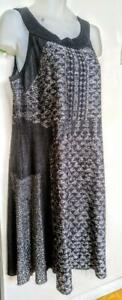 NEW 1X XL NIC & ZOE KNIT DRESS $200 from HUDSON BAY CO Never worn Gray white Stretchy Summer Spring Plus XL 18 20