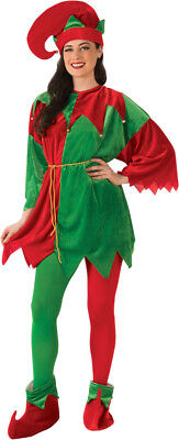 Red Green Costume (Red Green Elf Tunic Set Mens Womens Costume Standard Size NEW Christmas)