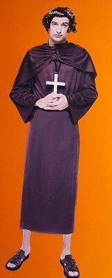 Mens Adult Priest Pastor Minister Robe Halloween Costume XL Big & Tall 2XL NEW
