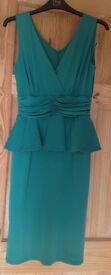 Emerald green short cocktail dress