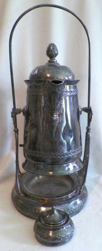 Victorian Ice Water Server Pairpoint 1848 1/2 Quadruple Silver Plate Antique