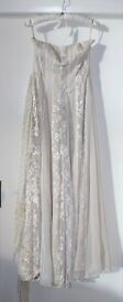 Beautiful new ivory chiffon and silk wedding dress