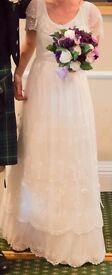 sally bee size 8 white wedding dress
