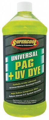 Supercool Universal PAG Oil UV Dye Air Con Conditioning System Lubricant R134a