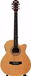 Acoustic electric guitar with free capo and strap iMusic215 brand new 40 inch