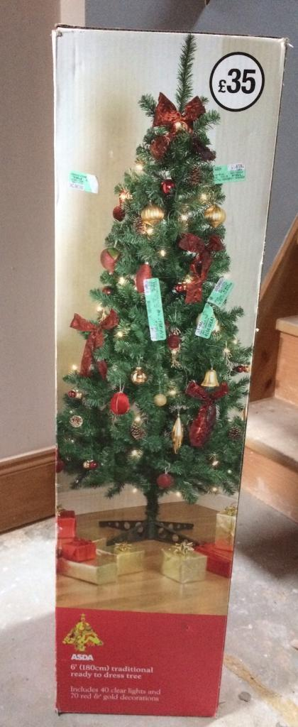 Brand New 6ft Christmas Tree from Asda Cost £35, I want £15 please ...