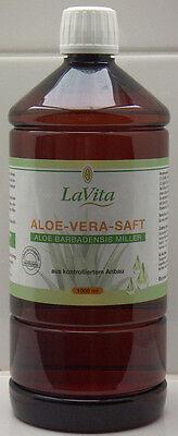 (1,09/100ml) Aloe Vera Saft, Reinheit 99,7 %, 1 Liter, Kontr. Anbau, Lavita