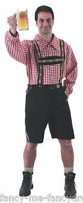 Herren Bayerische Lederhose Deutsches Oktoberfest Junggesellenabschied Kostüm